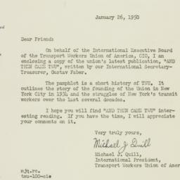 Letter : 1950 January 26