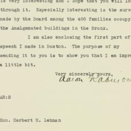 Letter : 1931 July 2