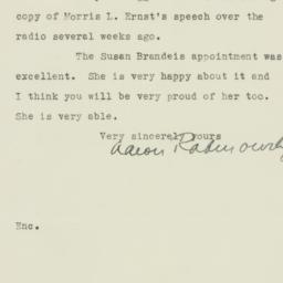 Letter : 1935 February 15