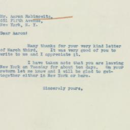 Letter : 1938 March 4