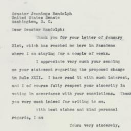 Letter : 1959 January 26
