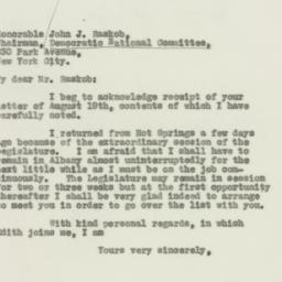 Letter : 1931 August 28