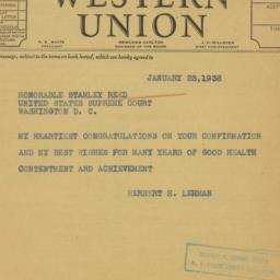 Telegram : 1938 January 28