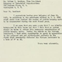 Letter : 1951 July 2