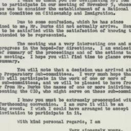 Letter : 1953 November 6