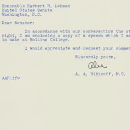 Letter : 1951 February 19