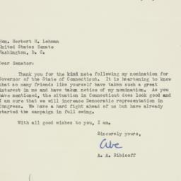 Letter : 1954 July 14