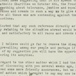 Letter : 1933 September 25
