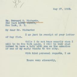 Letter : 1938 May 27