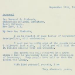 Letter : 1938 September 25