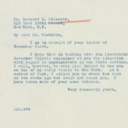 Letter : 1939 November 4