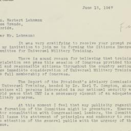 Letter : 1947 June 12