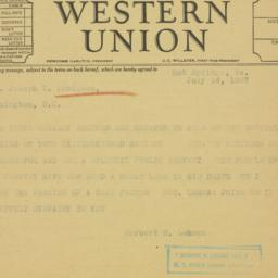 Telegram : 1937 June 14