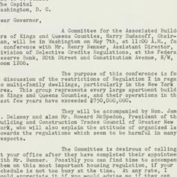 Letter : 1952 May 1