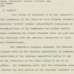 Letter: 1925 October 1