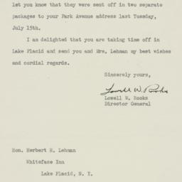 Letter : 1947 July 21