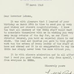Letter : 1948 March 22