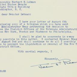 Letter : 1951 August 9