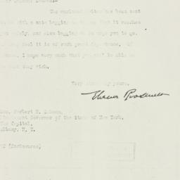 Letter : 1930 March 22