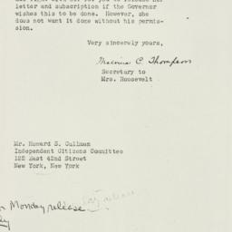 Letter: 1938 October 25