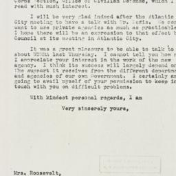 Letter: 1943 November 1