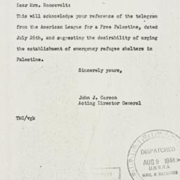 Letter: 1944 August 8