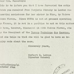 Letter: 1944 October 26