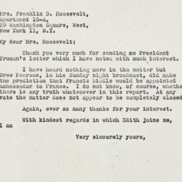 Letter: 1947 January 22