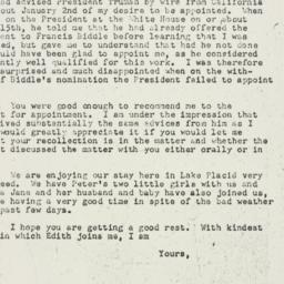 Letter: 1947 July 14