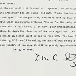 Letter: 1931 April 25
