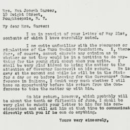 Letter: 1931 May 25