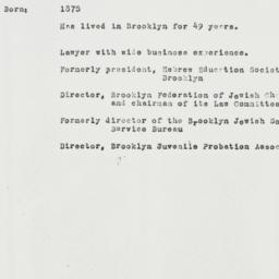 Memorandum: 1931 July 14