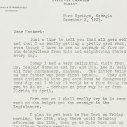 Letter: 1931 December 3