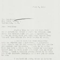 Letter: 1933 June 2