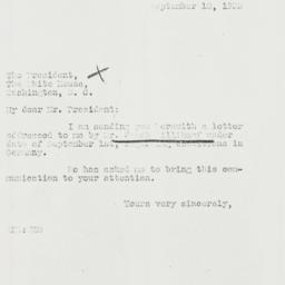 Letter: 1933 September 18