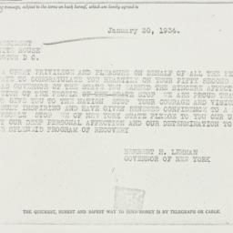 Telegram: 1934 January 30