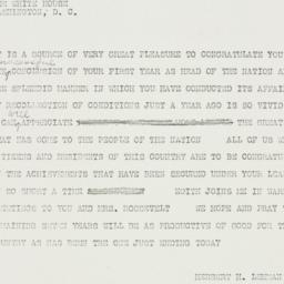 Telegram: 1934 March 4