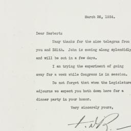 Letter: 1934 March 26