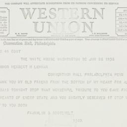Telegram: 1936 June 26
