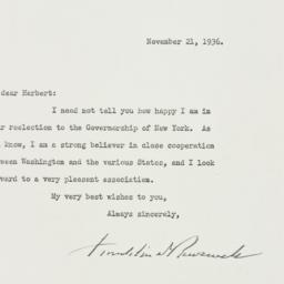 Letter: 1936 November 21