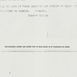 Telegram: 1936 December 3