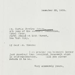 Letter: 1936 December 22