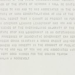 Telegram: 1936 December 31