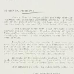 Letter: 1937 January 22