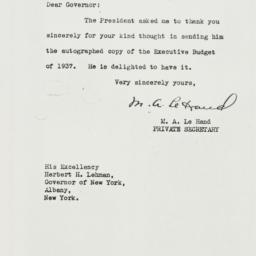 Letter: 1937 March 11