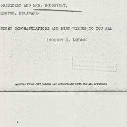 Telegram: 1937 June 30