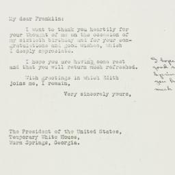 Letter: 1938 April 1
