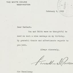 Letter: 1939 February 2