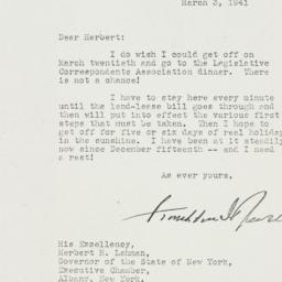 Letter: 1941 March 3