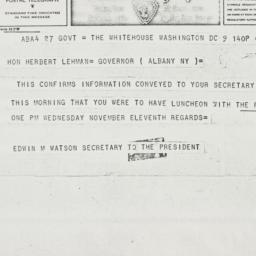 Telegram: 1942 November 9